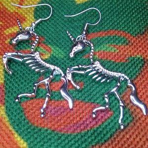 Skeleton Unicorn Earrings